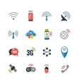 Wireless Technology Flat Icons Set vector image vector image