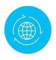 Globe with arrows line icon vector image