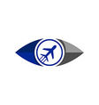 Plane Vocation Travel Transportation vector image