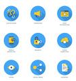 Set of FlatDesign SEO Icons With Long Shadow Link vector image