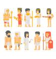 ancient egyptian people set cartoon design vector image