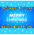 Christmas background blue garlands for Xmas vector image