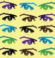 Eyes background vector image