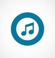 music bold blue border circle icon vector image