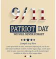 Patriots day vector image