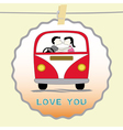 Romantic card6 vector image