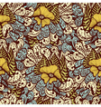 Seamless vintage fantasy pattern vector image