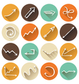 Set of round flat icons vector image
