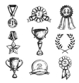 Sketch Medal Design Icon Set vector image