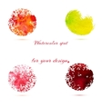 Watercolor brush strokes and circle splashes vector image