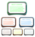 Rounded Rectangle Frames vector image