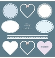 Lacy doilies vector image