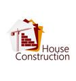 construction of buildings symbol vector image vector image