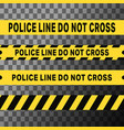 police line do not cross tapes vector image