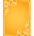 frame on yellow background honeycomb vector image
