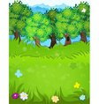 Summer forest vector image