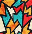 geometric grunge seamless pattern with grunge vector image