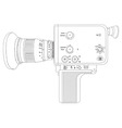 cine camera vector image