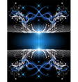 Background with silver ornament vector image vector image