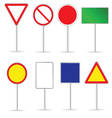 blank traffic sign set two vector image