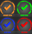 Check mark sign icon Confirm approved symbol vector image