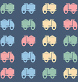 Colorful tipper truck pattern vector image