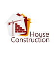 Construction of buildings symbol vector image