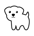 dog canine young standing outline vector image