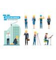 engineers workers architect repairman director vector image