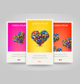 heart with lot of application icons colorful vector image