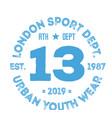 london sport t-shirt design vector image