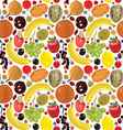 pattern with fruits and berries vector image