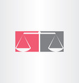 scales of justice symbol design vector image