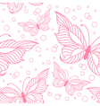 Seamless pattern with elegant butterflies vector image