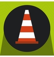 warning cone protection icon vector image