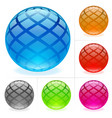 glossy spheres vector image