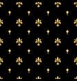 golden fleur-de-lis seamless pattern gold vector image