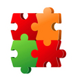 puzzle elements vector image vector image
