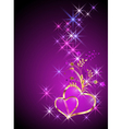 Decorative hearts and stars vector image vector image