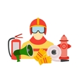 color set collection of firefighter vector image