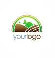 country farm landscape logo vector image