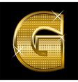 Golden font type letter G vector image