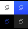 logo s linear logo of the letter s vector image
