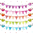 Party pennant bunting vector image