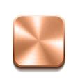 Realistic bronze button vector image