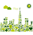 Green City environmental icons vector image