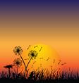 Dandelion in the wind vector image