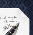 piece of paper blank contract with ink pen vector image vector image