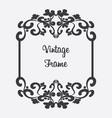 black vintage frame floral ornament vector image