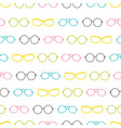 colorful glasses accessories stripes vector image